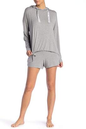 French Connection Logo Tie Hoodie Pajama 2-Piece Set