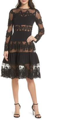 Bronx and Banco Flamenco Lace Fit & Flare Dress