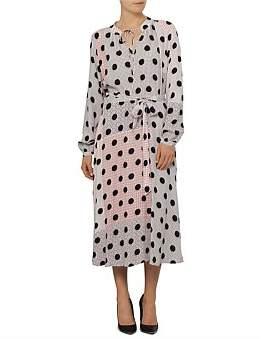 David Jones Long Sleeve Spot Dress