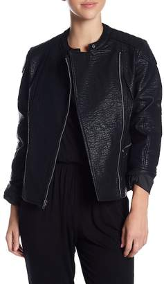 Cupcakes And Cashmere Donny Faux Leather Moto Jacket