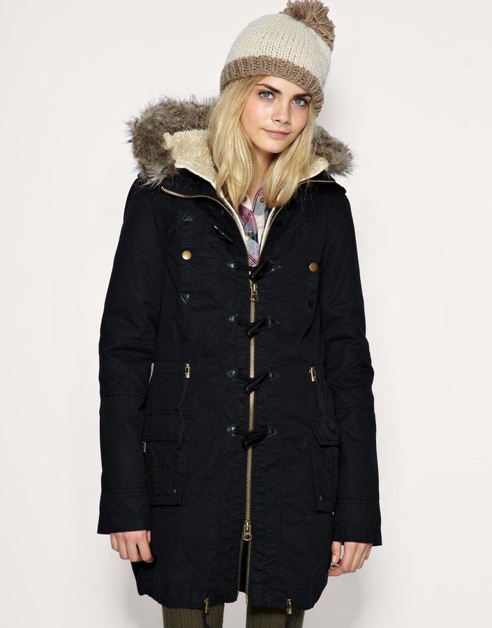 ASOS Parka With Detachable Faux Fur Lining