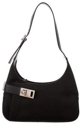 Salvatore Ferragamo Leather-Trimmed Mini Bag