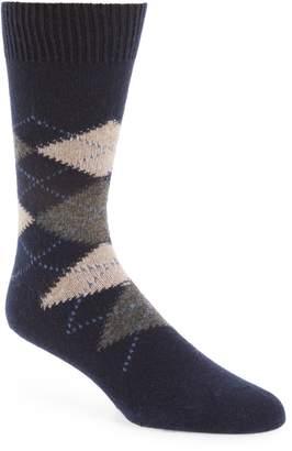 Nordstrom Signature Argyle Cashmere Blend Socks