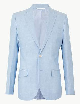 Marks and Spencer Regular Fit Linen Miracle Jacket