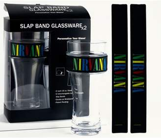 Iconic Nirvana 2-Pack Slap Band Pint Size Glassware - Multi Color Logo