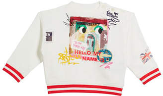Burberry My Name Graphic Sweatshirt, Size 12M-3