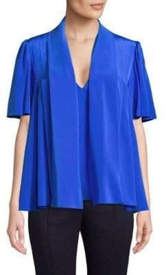 Diane von Furstenberg Tie-Neck Silk Blouse