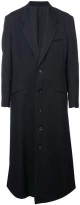 Yohji Yamamoto long single-breasted coat