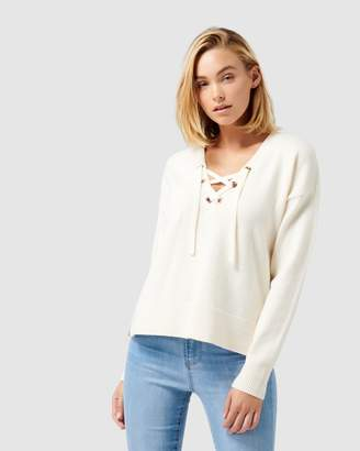 Forever New Hope Lace Up Front Jumper