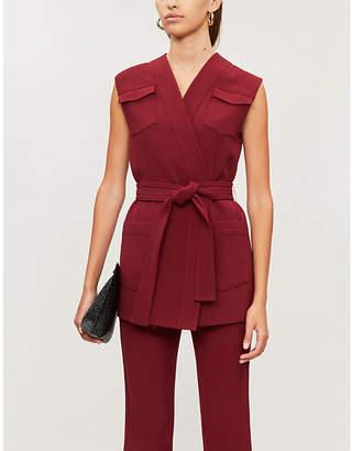 Victoria Victoria Beckham Patch-pocket woven vest