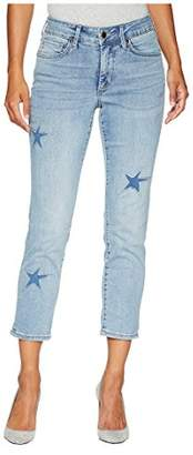 NYDJ Women's Petite Size Sheri Ankle Laser Cut Starfish