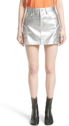 Women's Junya Watanabe Metallic Faux Leather Miniskirt $495 thestylecure.com
