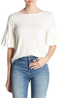 Cable & Gauge Textured Puff Sleeve Blouse