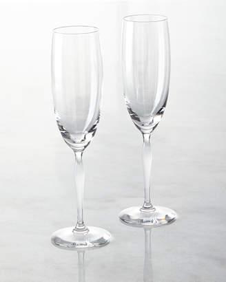 Lalique Two 100 Points Champagne Flutes