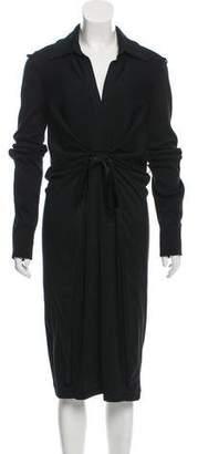 Salvatore Ferragamo Long Sleeve Wool Dress