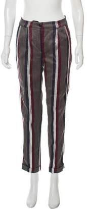 Dries Van Noten Wool & Linen Blend Mid-Rise Pants