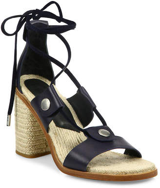 Rag & Bone Eden Leather Lace-Up Block Heel Sandal