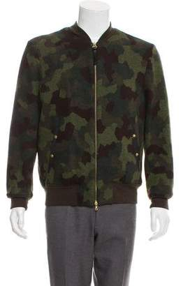Paul Smith Camouflage Wool-Blend Bomber Jacket