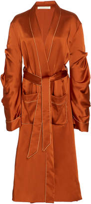 Jonathan Simkhai Fluid Satin Trench Coat