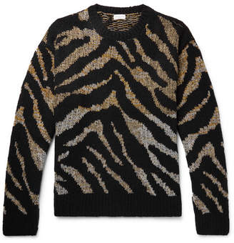 Dries Van Noten Oversized Intarsia-Knit Sweater