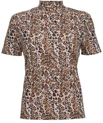 d774f35459da63 Mint Velvet Leopard Print High Neck Tee