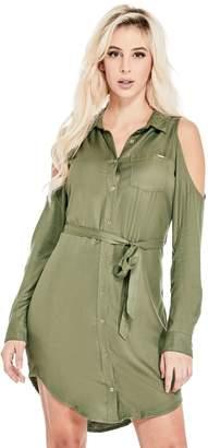 GUESS Factory Women's Gigi Cold-Shoulder Dress