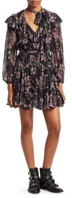 Zimmermann Fleeting Floral Tie Flounce Dress