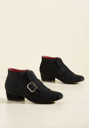 Bait Footwear/Nine Eight Nine Showcase Your Strut Bootie in Onyx $82.99 thestylecure.com