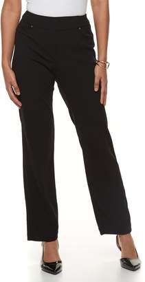 Briggs Petite Scuba Crepe Split-Waist Dress Pants