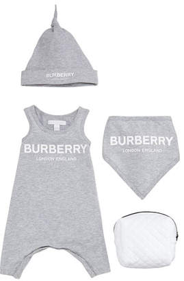 Burberry 4-Piece Branded Logo Set, Size 3-9 Months