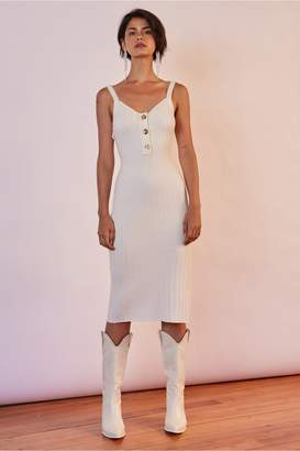 Finders Keepers WEST COAST KNIT DRESS white