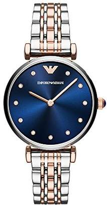 Emporio Armani Women's Analogue Quartz Watch with Stainless Steel Strap AR11092