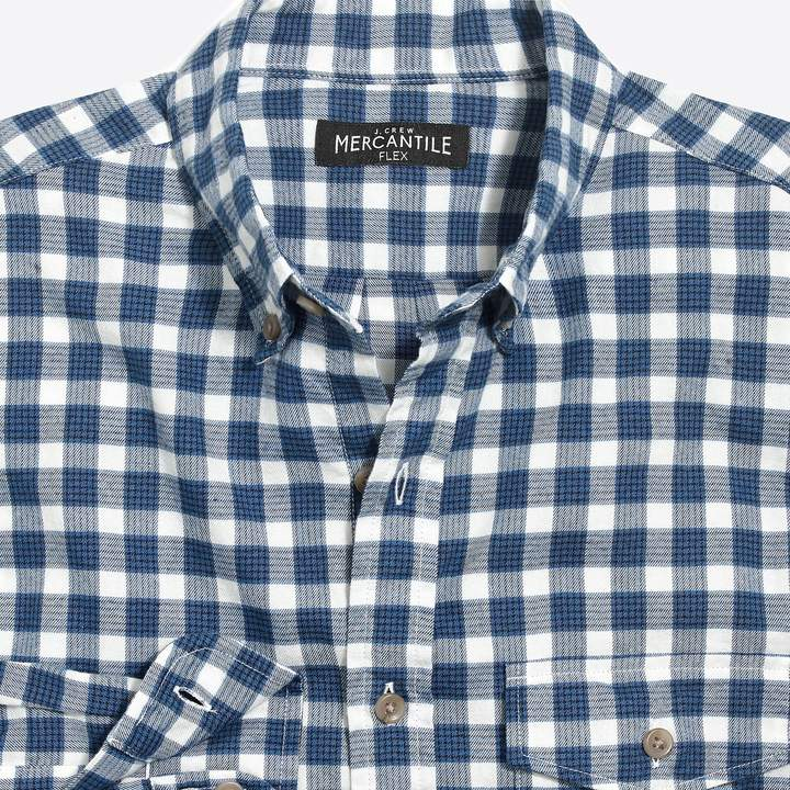 J.Crew Factory Slim-fit heather flex shirt in brushed twill check
