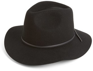 Women's Brixton 'Wesley' Wool Fedora - Black $52 thestylecure.com