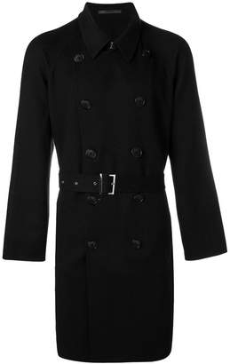 Giorgio Armani belted double-breasted coat