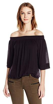 Three Dots Women's Off Shoulder Top