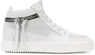 Giuseppe Zanotti Design zipped mid top sneakers