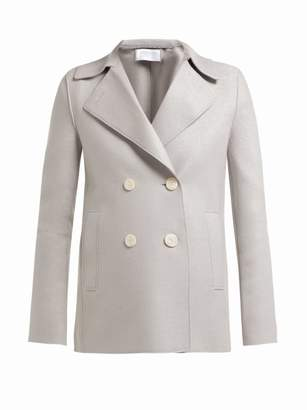Harris Wharf London Wool Pea Coat - Womens - Light Grey