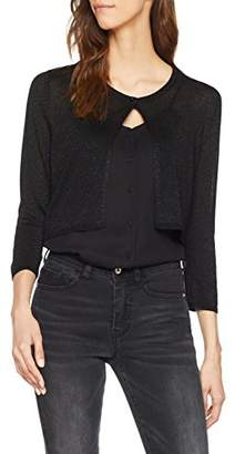 Only Women's Onlpisa 3/4 Short Cardigan KNT Detail: W Black Metalic Fibers, (Size: Small)