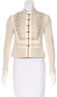 Chloé Canvas Embellished Jacket