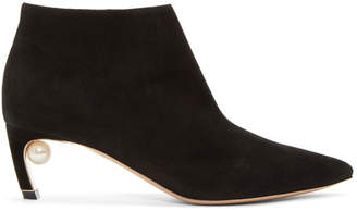 Nicholas Kirkwood Black Suede Mira Pearl Boots