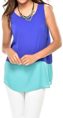 Paige Charlie Color Block Chiffon Top