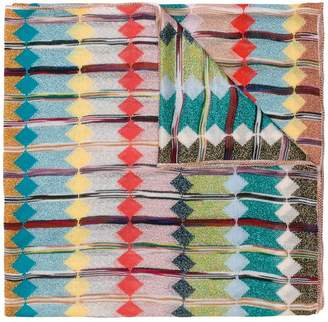 Missoni long diamond knit scarf