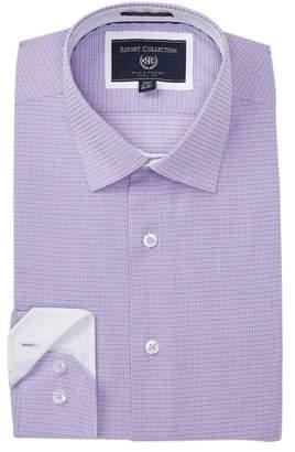 Report Collection Textured Woven Modern Fit Dress Shirt