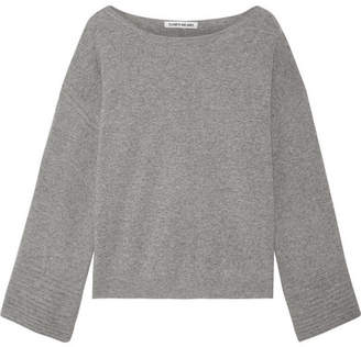 Elizabeth and James - Everest Knitted Sweater - Light gray $295 thestylecure.com
