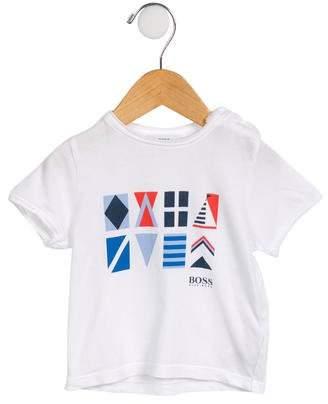 HUGO BOSS Boss by Boys' Printed Crew Neck T-Shirt