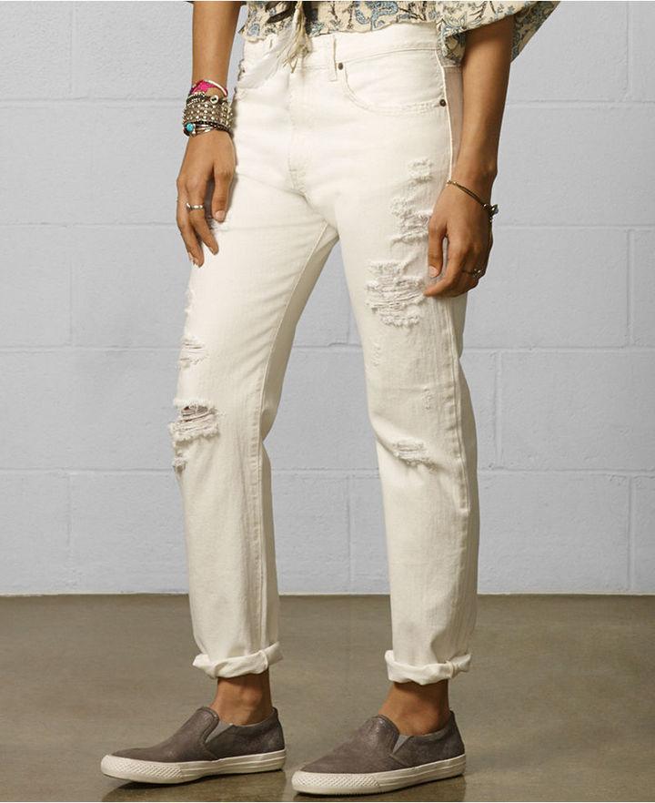 Denim & Supply Ralph Lauren Destructed Boyfriend Jeans, Ambes Wash