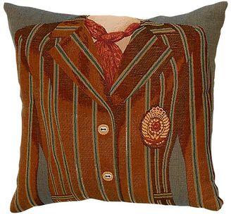 Adorabella Brown/Blue Stripe Cushion