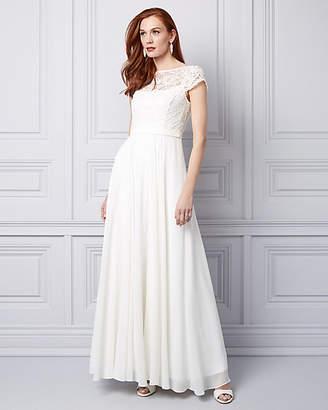 Le Château Lace & Chiffon Illusion Gown