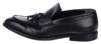 Balenciaga Tassel Leather Dress Loafers